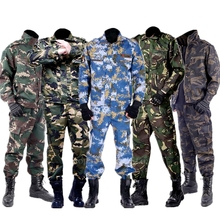 Camouflage Trainning Exercise Clothes Jacket Pant Sets Men Tactical Clothing Army Military Uniform Forces Soldier Combat Set ww2 japanese army type 98 soldier uniform sets jacket