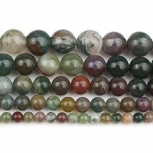 2/3/4-/.. Jewellery Making-Bracelet Loose-Beads Agates Natural-Stone Round Indian Price