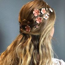 1 комплект, заколки для волос с розовым цветком, стразы, заколки для волос, модные заколки для волос, свадебная прическа, аксессуары для женщин