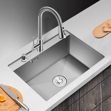 Kitchen Sink Undermount Single Bowl Manual 304 Stainless Steel  Thicken Sink Vegetable Kitchen Sink Home
