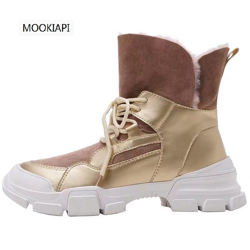 New boots of Australian brand in 2020, 100% real sheepskin, natural wool, fashionable and classic women's shoes