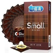 MingLiu 10pcs / pack 45mm Small Latex Condoms for Men Ultra-small Slim Durable Sex Toys