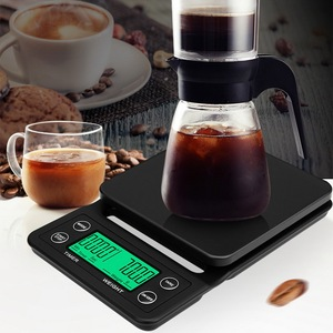 Image 2 - 5kg/0.1g Mini Digital Electronic Kitchen Scales Libra with Timer Barista Coffee Scale Table Cooking Food Scales for The Kitchen