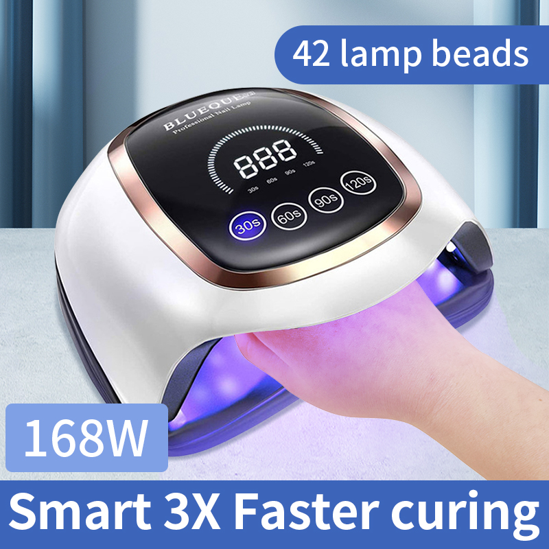 Doddohome 168W led nail lamp with uv light nail V3  for drying gel polish Timer Auto Sensor Manicure Tools