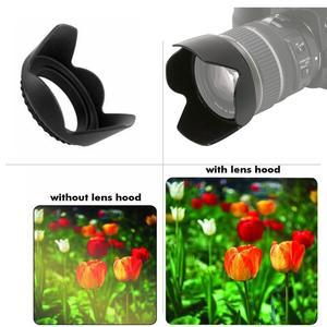 Image 5 - 58mm Filtre UV Pare soleil pour Canon EOS 2000D 4000D 1500D 3000D 90D 1300D 800D 750D Rebelles T7 T100 T7i T6 T6i avec objectif 18 55mm