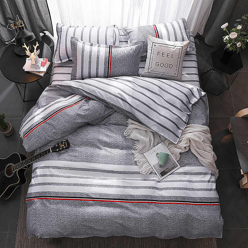 4 pcs/set Bedclothes Bedding Set With Pillowcase Duvet Cover Sets Bed Linen Single Double Full King Size Covers