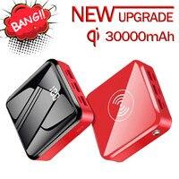 30000mAh Mini Wireless Power Bank 3USB caricabatterie esterno batteria esterna per telefono cellulare per iPhone 12 Pro Max Mini Power Bank