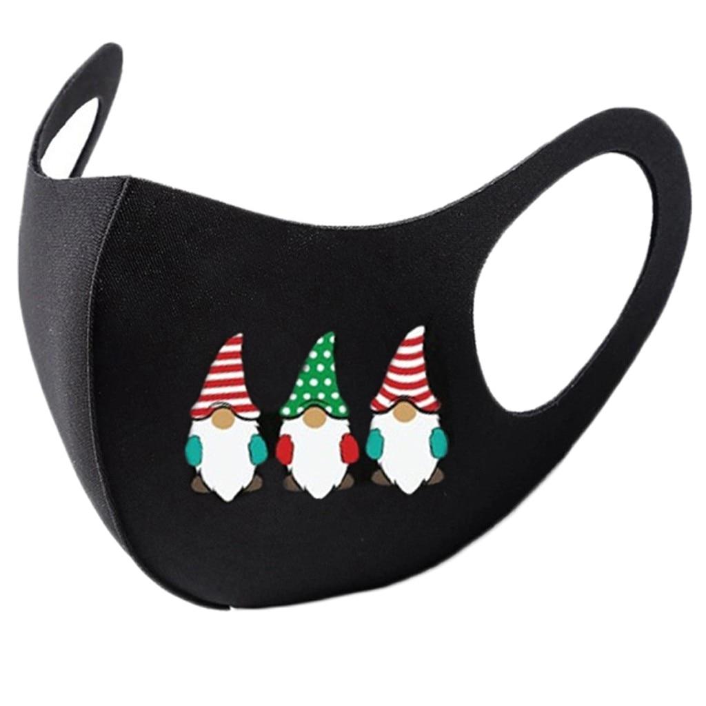 8pc colorido natal máscara facial festa máscara unissex máscaras christms santa elk impressão à prova de vento lavável papai noel rosto shilled 4