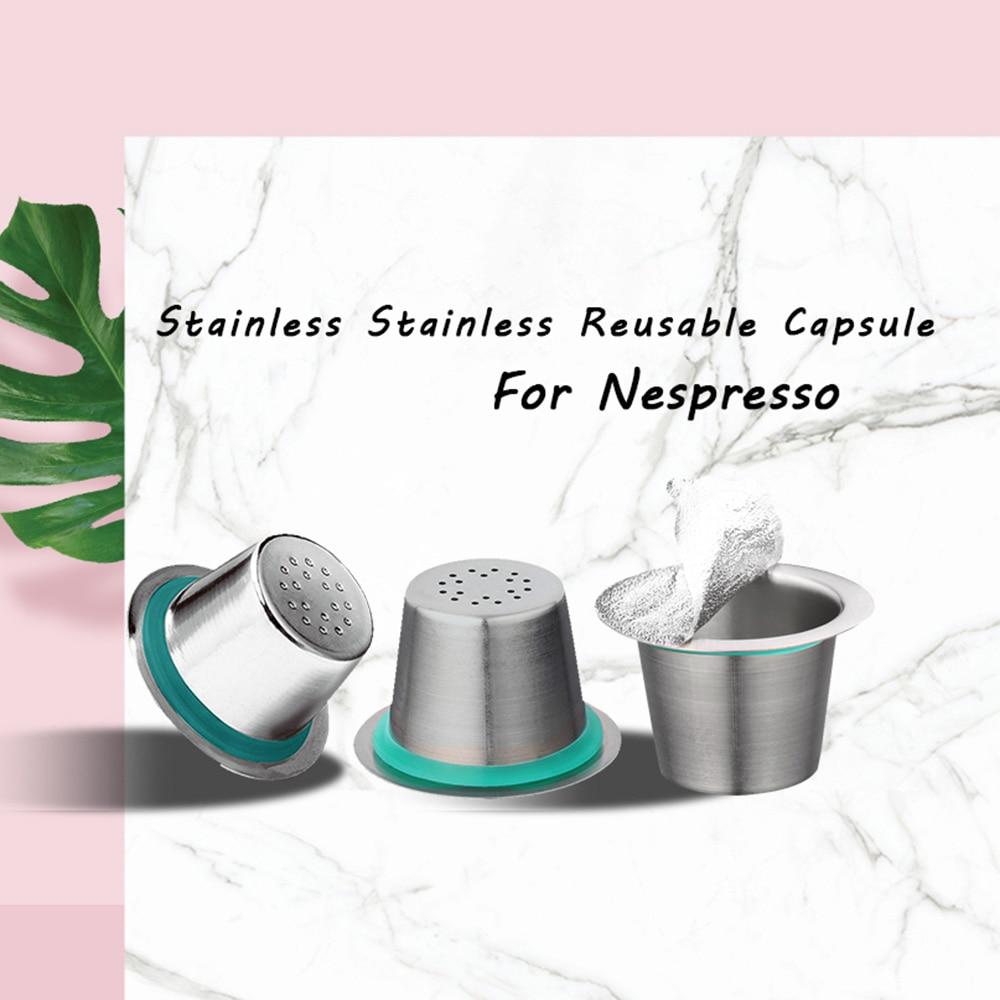2PCS/Box Refill Nespresso Coffee Capsulas Stainless Steel Refillable Nespress Coffee Capsule Reusable Italian Coffee Filters Cup