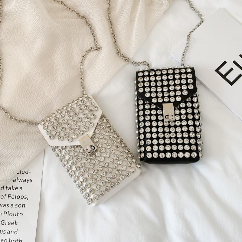 Fashion Rivets Waist Pack Luxury Designer Fanny Pack Small Women Waist Bag Phone Pouch Punk Belt Bag Purse