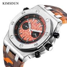 Мужские спортивные часы kimsdun royal oak модные водонепроницаемые