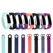 Alta qualidade banda de silicone para fitbit alta hr ajustável macio seguro pulseira pulseira pulseira relógio acessórios substituição