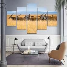 Декоративная живопись олень мигрящий в траве 5 шт плакат печать