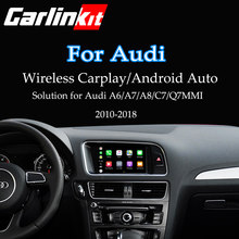Carlinkit carplay sem fio para audi a6 a7 a8 c7 q7 2010-2018 mmi 3g/3g + muitimedia interface carplay & android kit de retrofit automático(China)