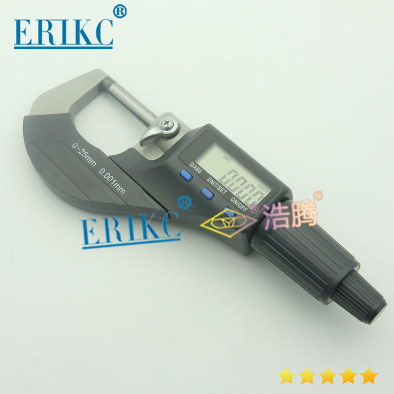 ERIKC High pricise Common rail injector Micrometer for testing Armature Lift Adjusting Shim kit|rail injectors|common rail injector|kit injector - title=
