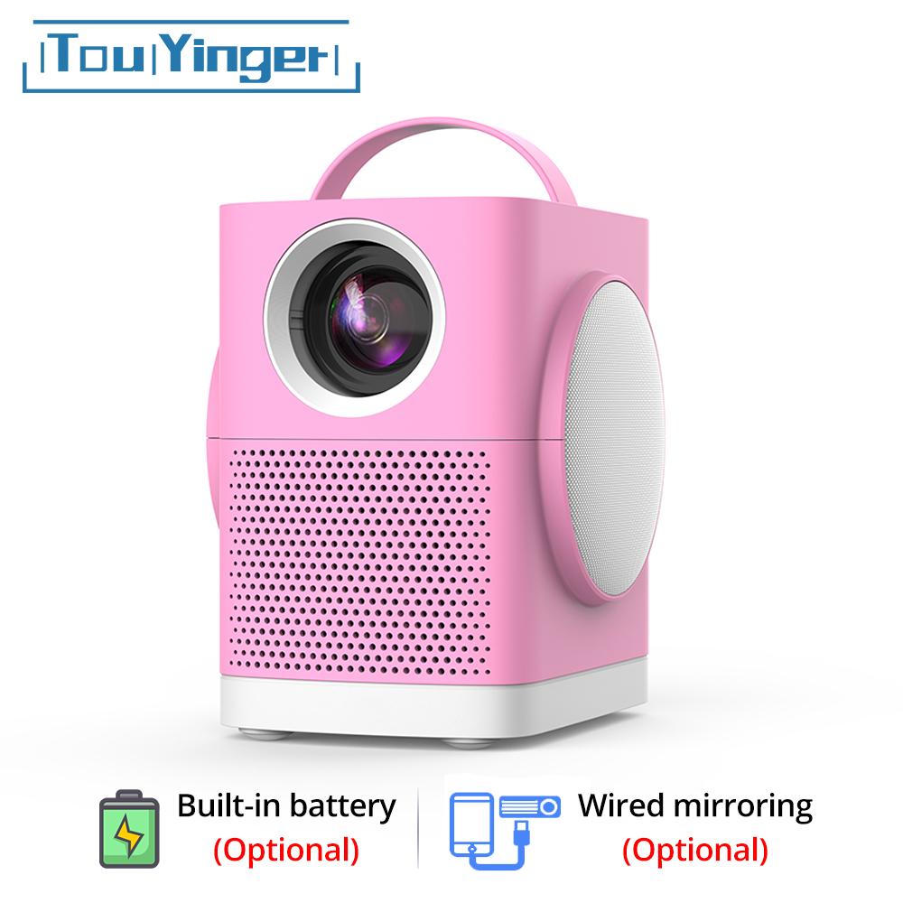 TouYinger LED Mini projector H1, 800x480 support Full HD video beamer for Home Cinema, 3000lumens movie projector Media Player