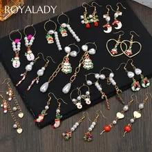 New FashionEarrings Pearl Snowman Crutch Long Drop Dangle Ear Jewelry