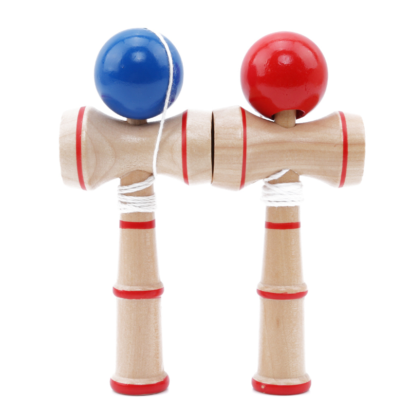 Kid Toys Kendama Coordinate Ball Toy  Wooden Japanese Traditional Wood Juggling Ball Game Toys For Children Educational Toy
