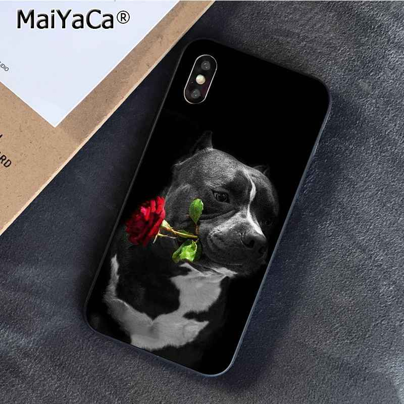 MaiYaCa çukur boğa köpek Pitbulls köpek telefon kılıfı iphone 11 Pro 11Pro Max 8 7 6 6S artı X XS MAX 5 5S SE XR