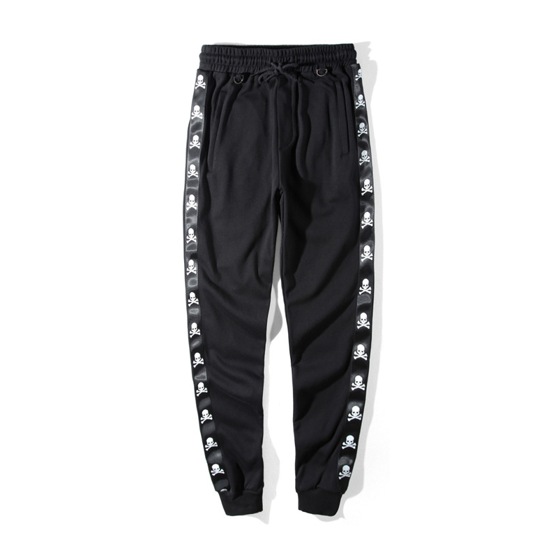 Spring And Summer 2020 Men's Tights Trendy Pants MMJ Skull Series Slim Fit Pants Sports Pants Men's Casual Pants