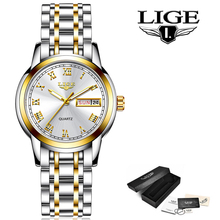 LIGE 2020 New Gold Watches Creative Steel Waterproof
