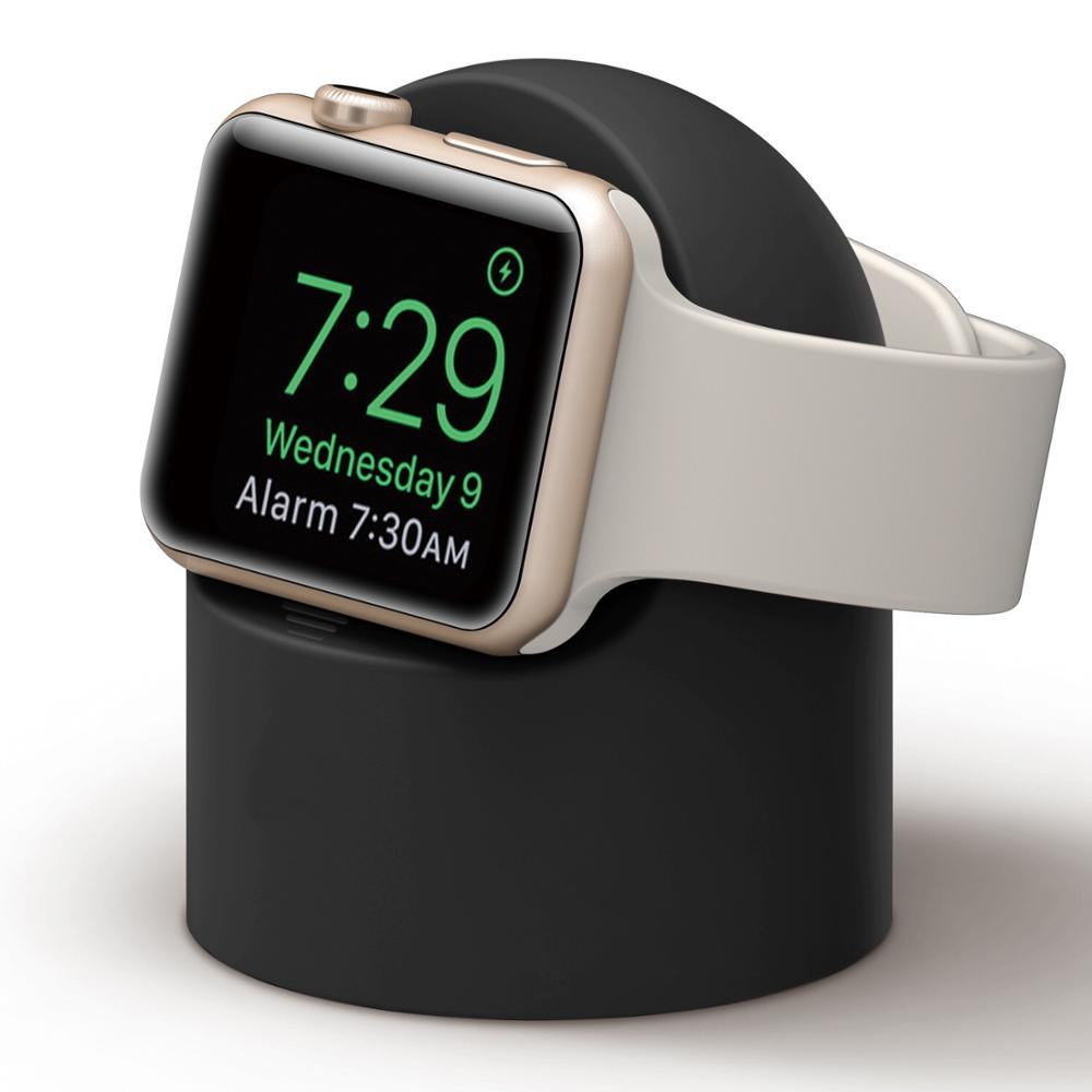Silicone Stand For Apple Watch 5 Series 4 3 2 1 38MM 42MM 40MM 44MM Cable Management Holder For Iwatch 4 3 2 1
