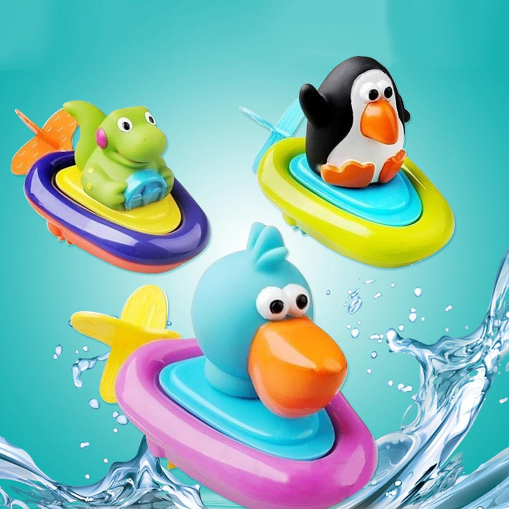 Cartoon Penguin Duck Crocodiles Baby Kid Bathtub Digging Rope Bathing Water Toy