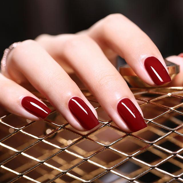 6ml Nail Gel Polish Red Purple Cafe Series Nail Color