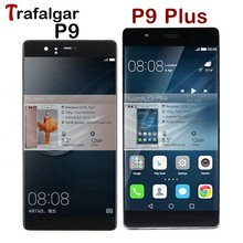 Huawei社P9 lcdディスプレイタッチスクリーンデジタイザのためのフレームとhuawei社P9 プラス液晶画面eva L09 L19 争うL09 L29