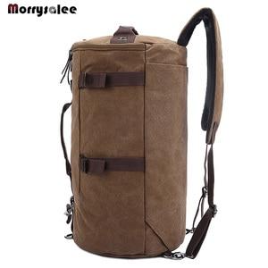 Image 5 - Männer Tasche Leinwand Rucksack Große Kapazität Mann Reisetasche Bergsteigen Rucksack Hohe Qualität 2 größen Zurück Pack