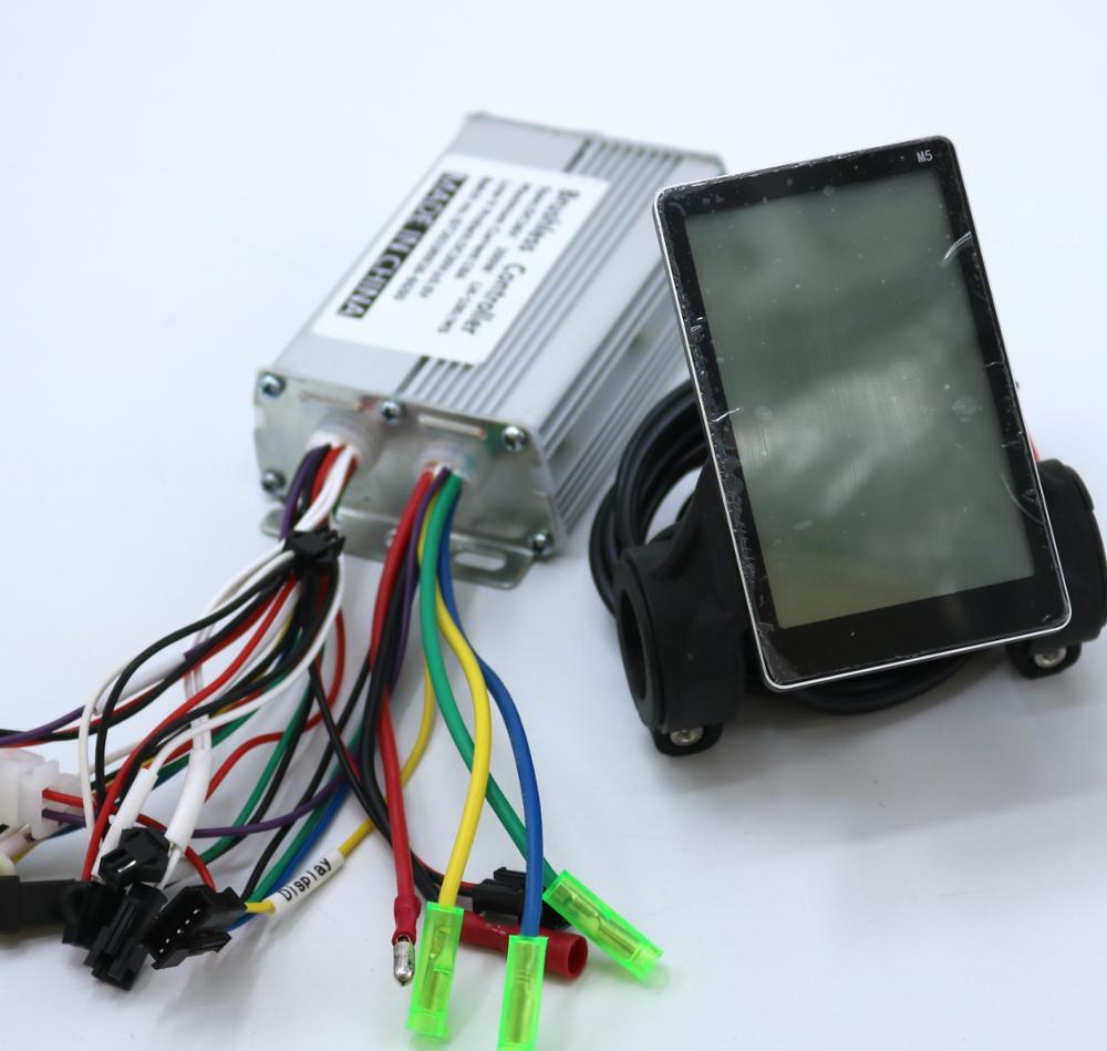 Greentime 36V 48V 350W Brushless DC Motor Controller Ebike Controller +M5 LCD Display One Set