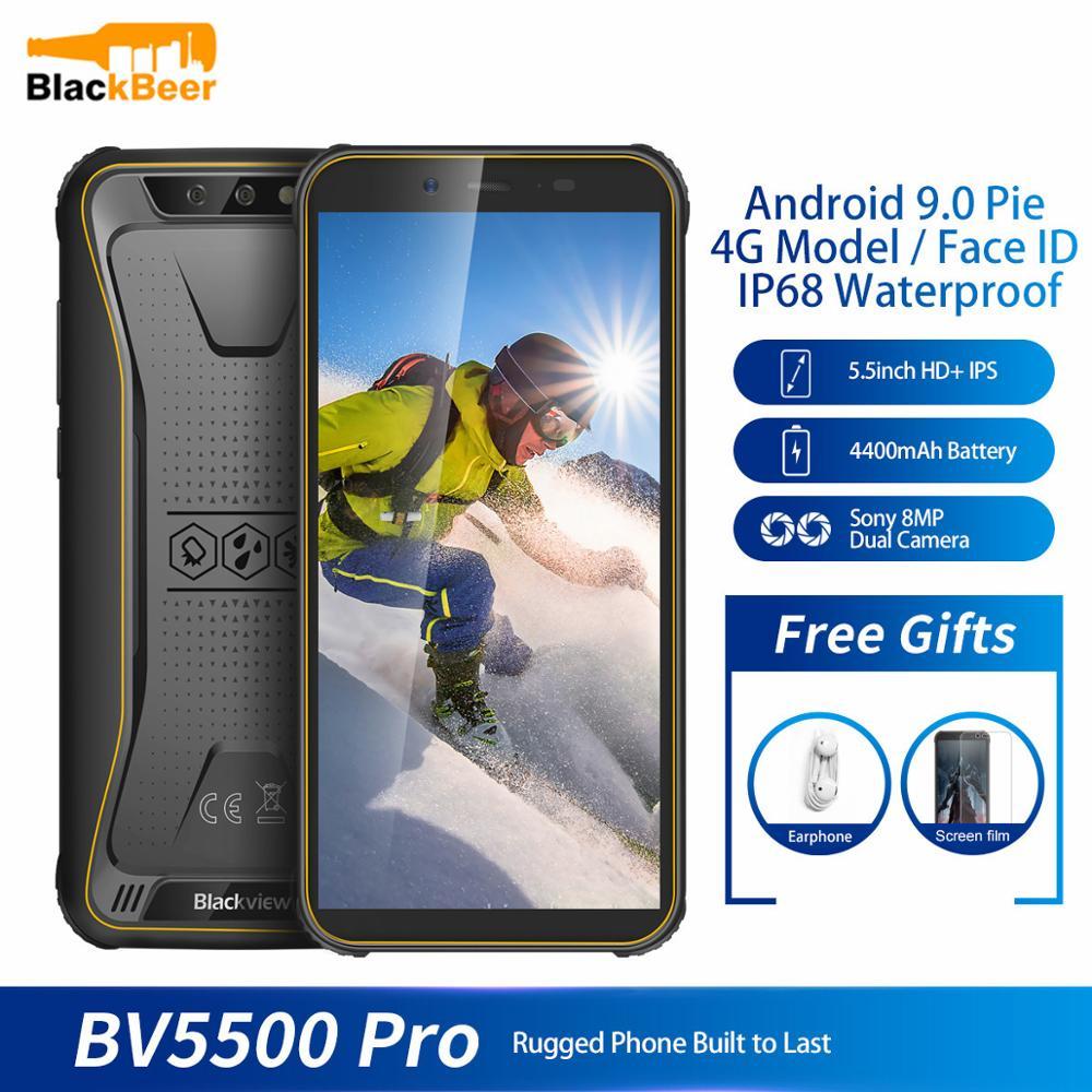 Купить Blackview BV5500 pro 5,5 дюймов 4G LTE мобильный телефон водонепроницаемый прочный IP68 смартфон MT6739 четырехъядерный мобильный телефон 4400 мАч Лицо ID на Алиэкспресс