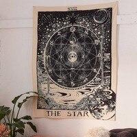 Винтажный Европейский гобелен на стену, колдовство, Багуа, гобелен, солнце, луна, звезда, спальня, изголовье, Аррас, ковер, астрологическое од...