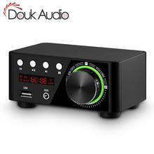 Douk audio Mini TPA3116 Power Amplifier Bluetooth 5.0 สเตอริโอ Home Car Audio Amp USB U disk เครื่องเล่นเพลง