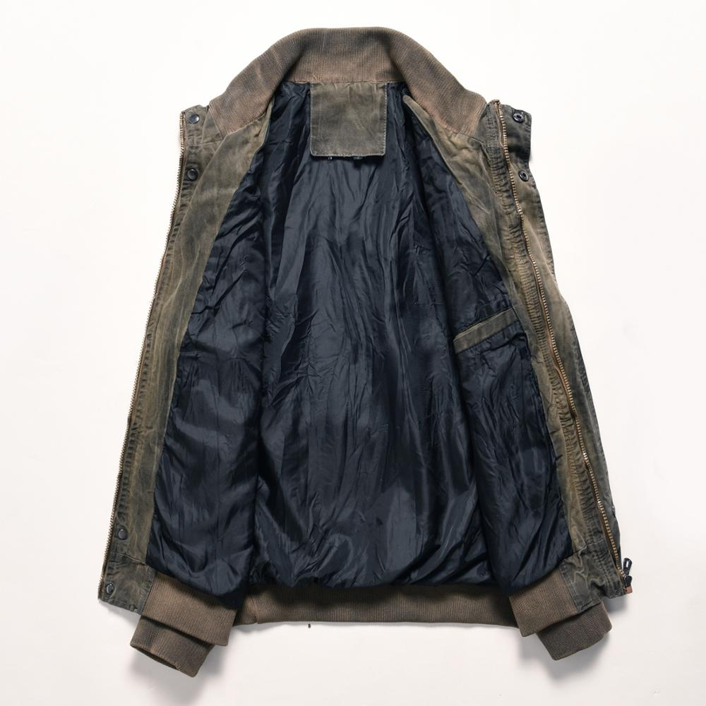 Image 4 - Denim Jacket Men Retro Cowboy Casual Coats Mens Windbreaker Tactical Military Cargo Bomber Jeans Jackets European Size Chaquetas-in Jackets from Men's Clothing
