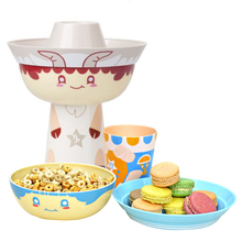 3pcs/set Cartoon Baby Bowl Plate Cup Dishes Constellation Bamboo Fiber Children's Plate Baby Food Feeding Dishes Kids Tableware