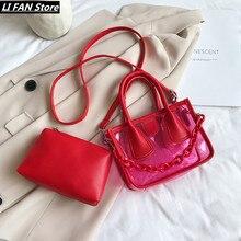 Новая прозрачность женская сумка сумки на ремне для женщин 2020 Сумка женская летняя сумка мода сумка мода сумка пляжная сумка