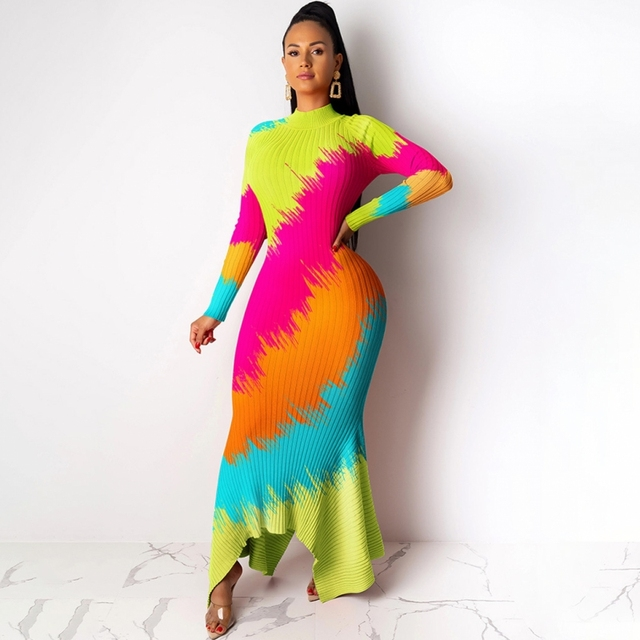 African Dresses For Women Elegent Fashion Style African Women Plus Size Polyester Long Maxi Dress