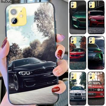 Riccu Blue Red Car For Bmw Phone Case for iPhone 11 pro XS MAX 8 7 6 6S Plus X 5S SE XR case image