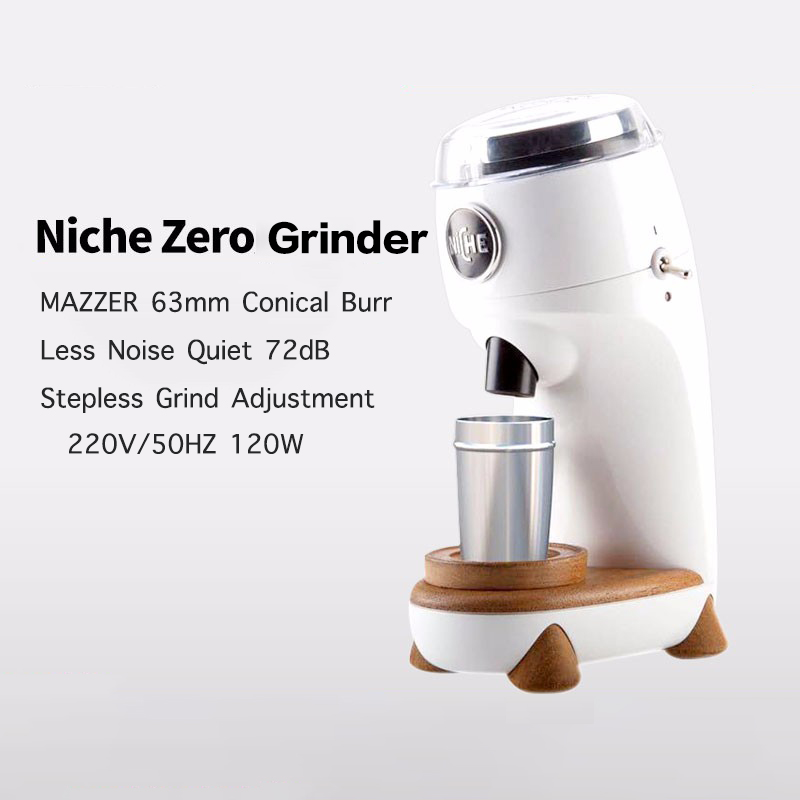 220V Electric Niche Zero Coffee Grinder Commercial 63mm Burr Stepless Grind Adjustment Best Coffee Grinder No Residual Powder