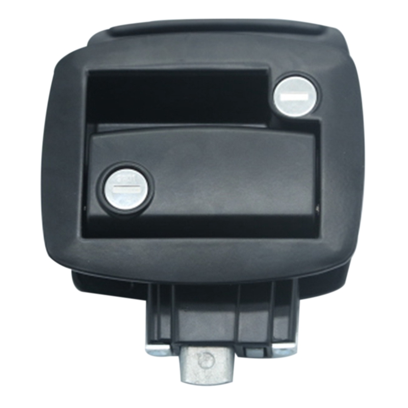 New Black RV Paddle Entry Door Lock-7