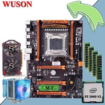 Комплект материнской платы HUANANZHI Deluxe X79, игровая материнская плата с M.2 CPU Xeon E5 2660 V2 RAM 32G RECC GTX750 2G, видеокарта