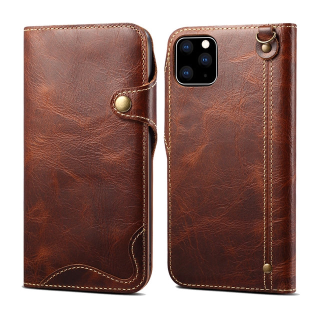 Durable Genuine Leather Wallet Case for iPhone 11/11 Pro/11 Pro Max