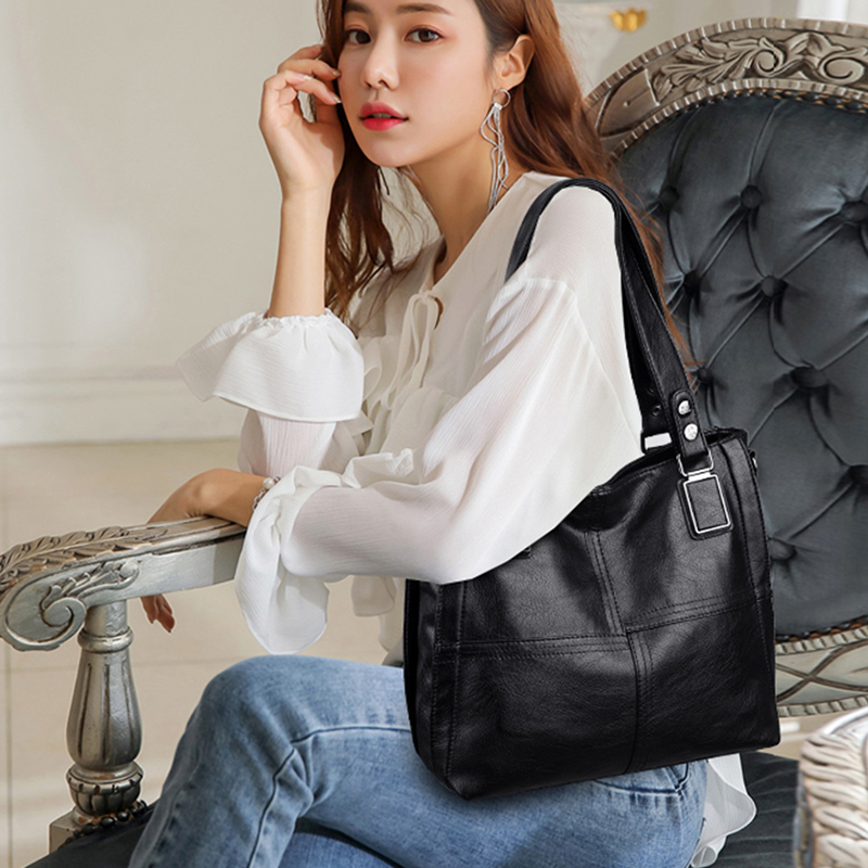 Leather Luxury Handbags Women Bags Designer Handbags Ladies Shoulder Hand Bags For Women 2019 Large Casual Tote Sac Bolsa Femini 2