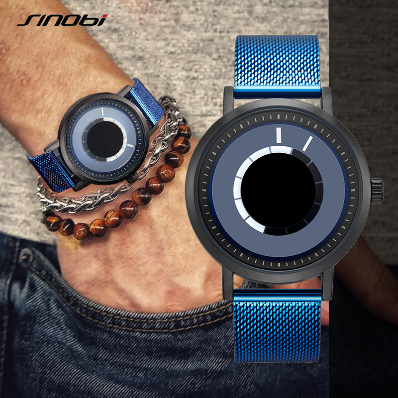 Sinobi Creative Design Men's Quartz Watch Rotating Watches Man Casual Wrist watch hombres Clock Male Gifts relogio Masculino 19