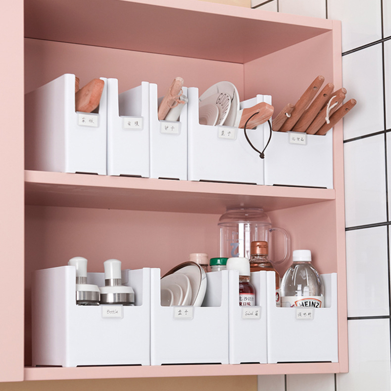 Right-angle Compartment Storage Drawer Kitchen Spice Storage Box Desktop Cabinet Pantry Makeup Paper Shampoo Phone Storage Box