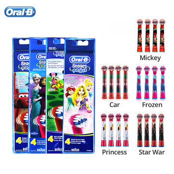 Toothbrush Heads Oral B Replacement EB10 Rotation Soft Bristle Cartoon Pattern Clean Whitening Teeth Care Gum for Kids