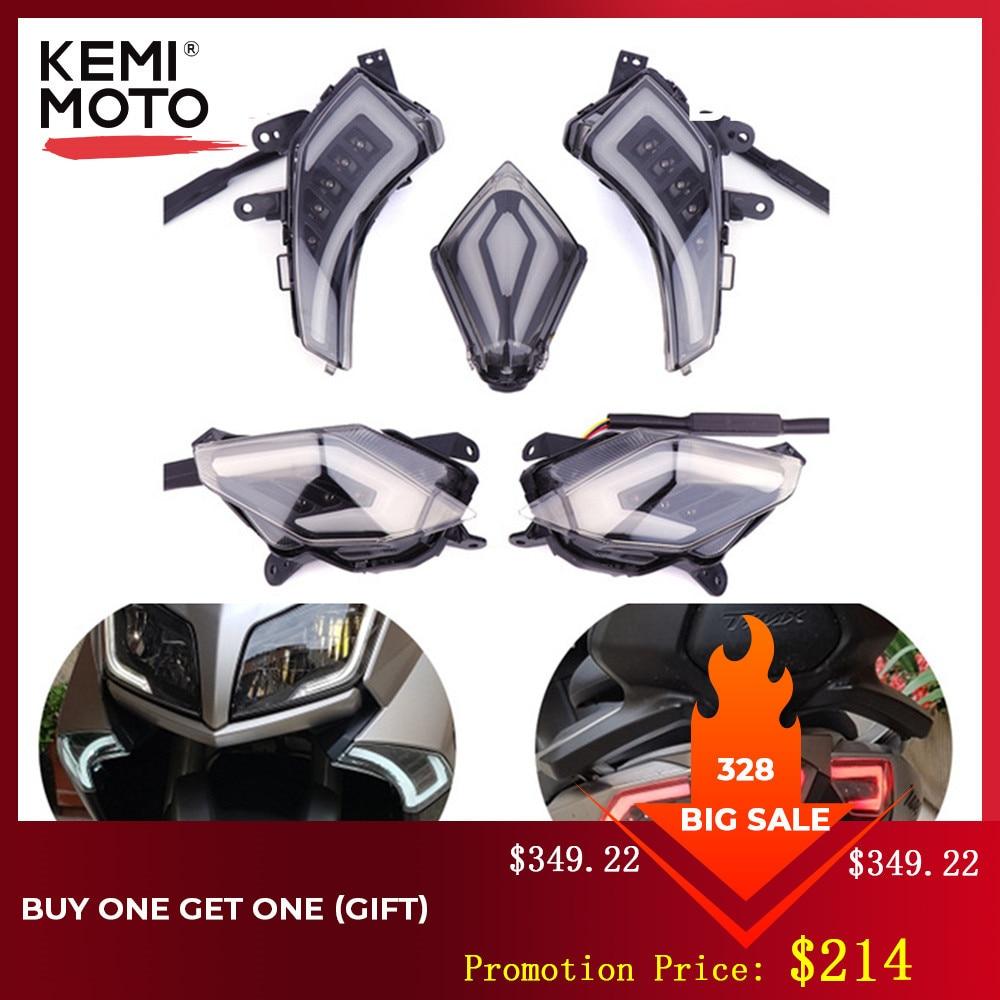 KEMiMOTO Light For YAMAHA Tmax 530 TMAX530 2012 2013 2014 2015 2016 Front Turn Signal Light Rear Tail Brake Lamp LED Taillight