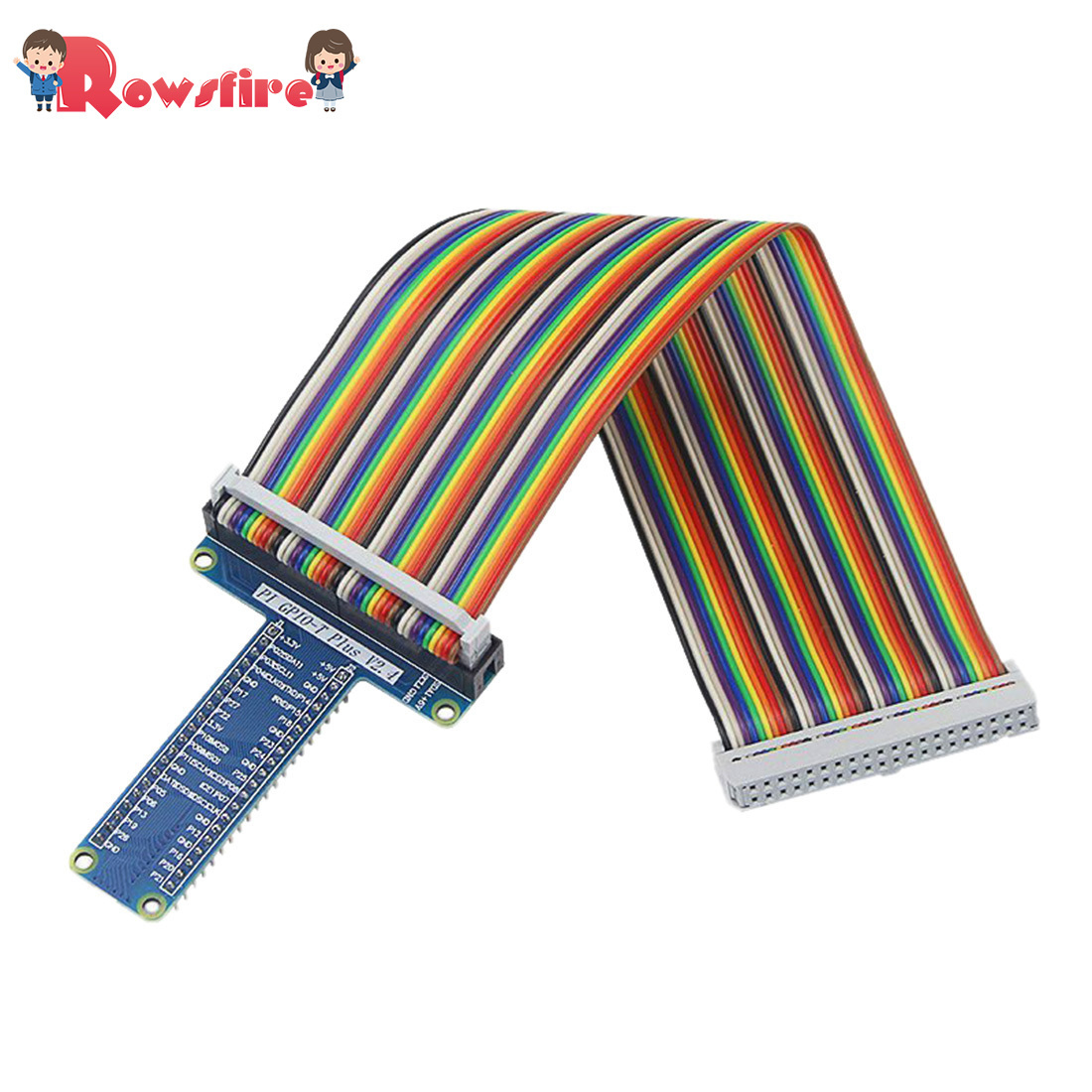T Shape Expansion Board And Rainbow Cable For Raspberry Pi 3B+/3B/2B GPIO