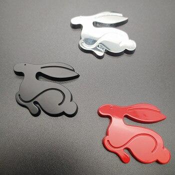 1 pcs 3D Metal Running Rabbit Emblem Car Rear Trunk Badge for VW Jetta Golf GTI Polo Universal Car Accessories 125mm chrome 1t0 853 601 a front radiator grille emblem car logo badge for vw jetta gli gti eos rabbit 2006 2009 1t0853601a